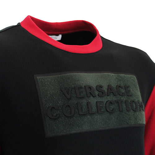 Versace Collection - Crew Neck Sweatshirt in Black/Red - Nigel Clare