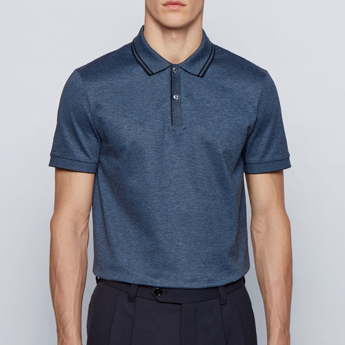 Hugo Boss - Parlay 110 Reg Fit Polo Shirt in Blue - Nigel Clare