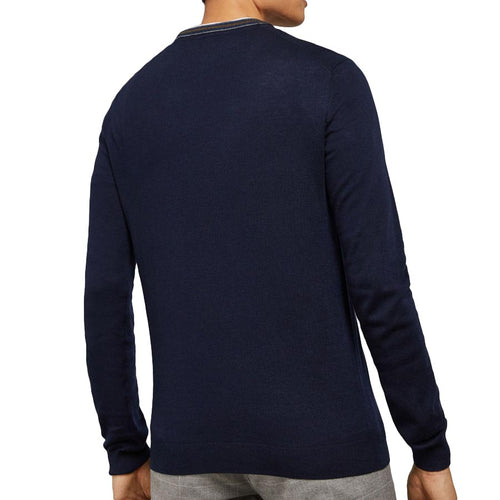 Ted Baker - MAILAIS Crew Neck Jumper in Navy - Nigel Clare