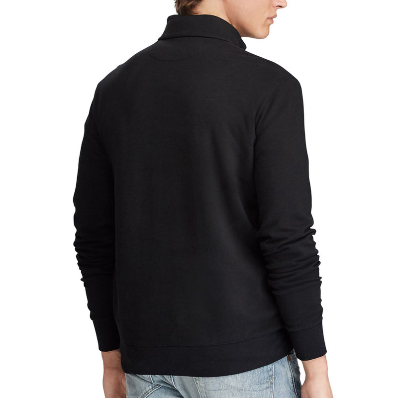Polo Ralph Lauren - Luxury Jersey Half Zip Pullover in Black - Nigel Clare