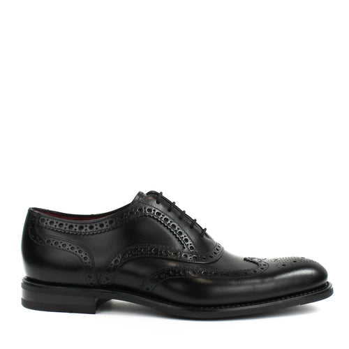 Loake - Kerridge B Oxford Brogues in Black - Nigel Clare