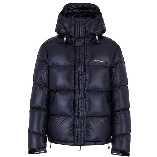 Emporio Armani - Quilted Down Puffa Jacket in Dark Navy - Nigel Clare