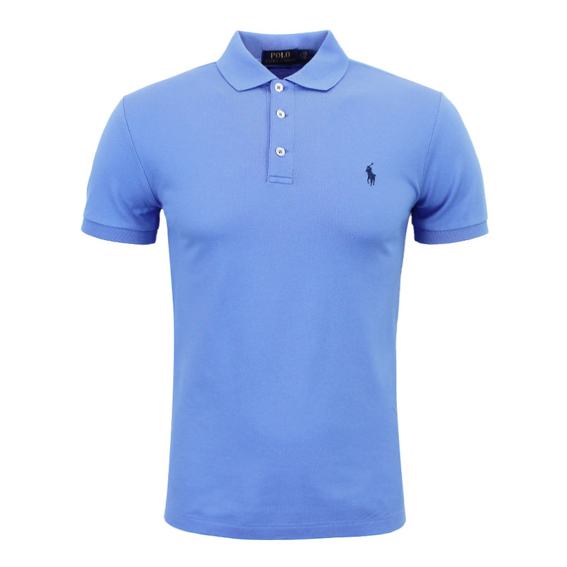 Polo Ralph Lauren - Slim Fit Stretch Mesh Polo Shirt in HI Blue - Nigel Clare