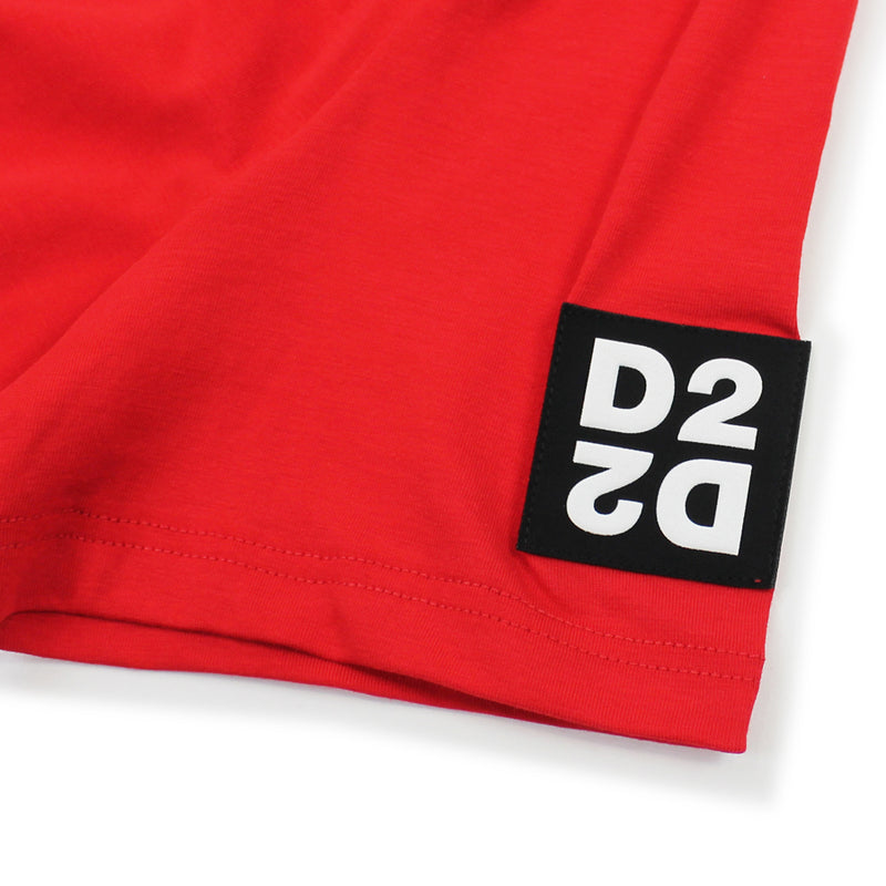 DSQUARED2 - D2 Sleeve Logo T-Shirt in Red - Nigel Clare