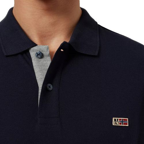 Napapijri - Taly Stretch 3 Polo Shirt in Blue Marine