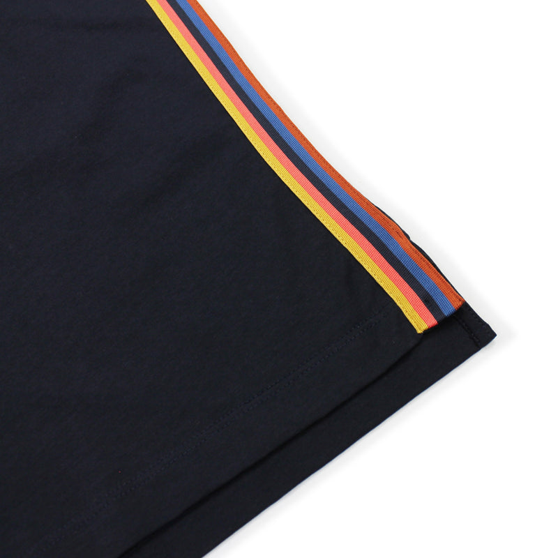 Paul Smith - Organic Cotton Artist Stripe T-Shirt in Navy