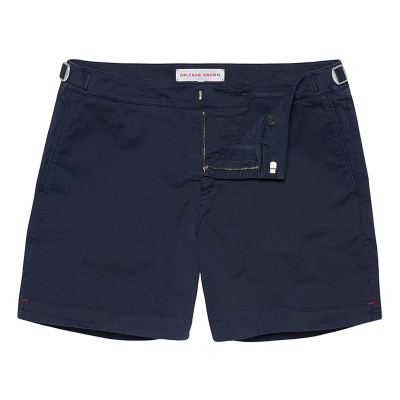 Orlebar Brown - Bulldog Cotton Twill Shorts in Navy - Nigel Clare