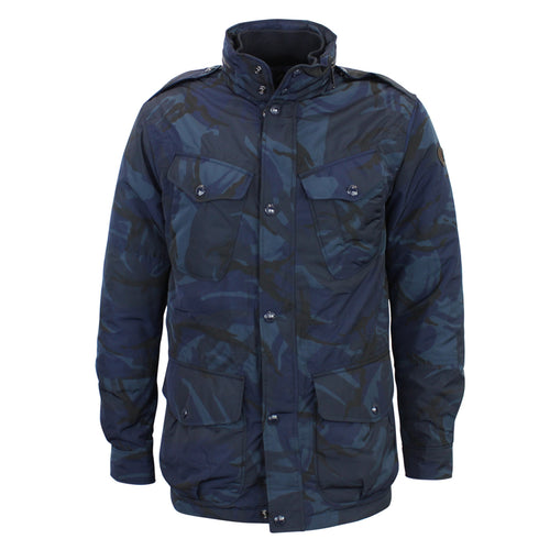 Polo Ralph Lauren - Padded Modern Battle Jacket in Blue Camo - Nigel Clare