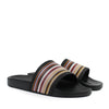 Paul Smith - Ruben Signature Stripe Sliders in Black - Nigel Clare
