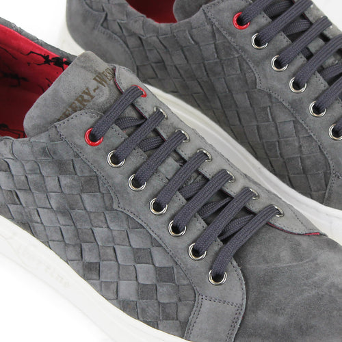 Jeffery West - Apolo Suede Leather Trainers in Grey - Nigel Clare