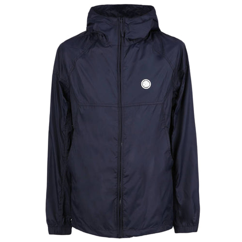 Pretty Green - Lightweight Zip Up Hooded Jacket in Navy - Nigel Clare