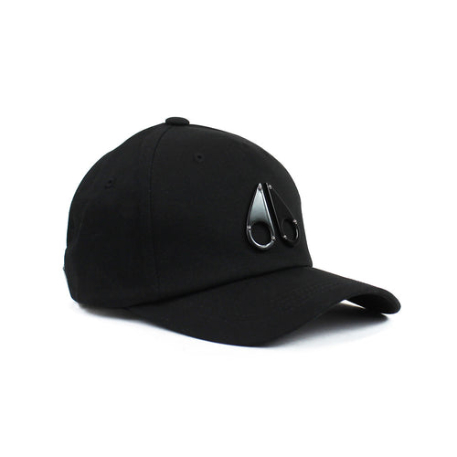 Moose Knuckles - Space Age Metal Logo Cap in Black - Nigel Clare