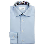 Eton - Contemporary Fit Animal Detail Shirt in Blue - Nigel Clare