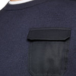 Ted Baker - Saysay Crew Neck Patch Pocket Jumper in Navy - Nigel Clare