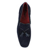 Jeffery West - Martini Dark Blue Suede Tassel Loafers - Nigel Clare