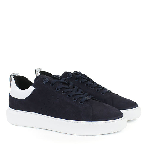 Nubikk - Scott Nubuck Trainers in Navy - Nigel Clare