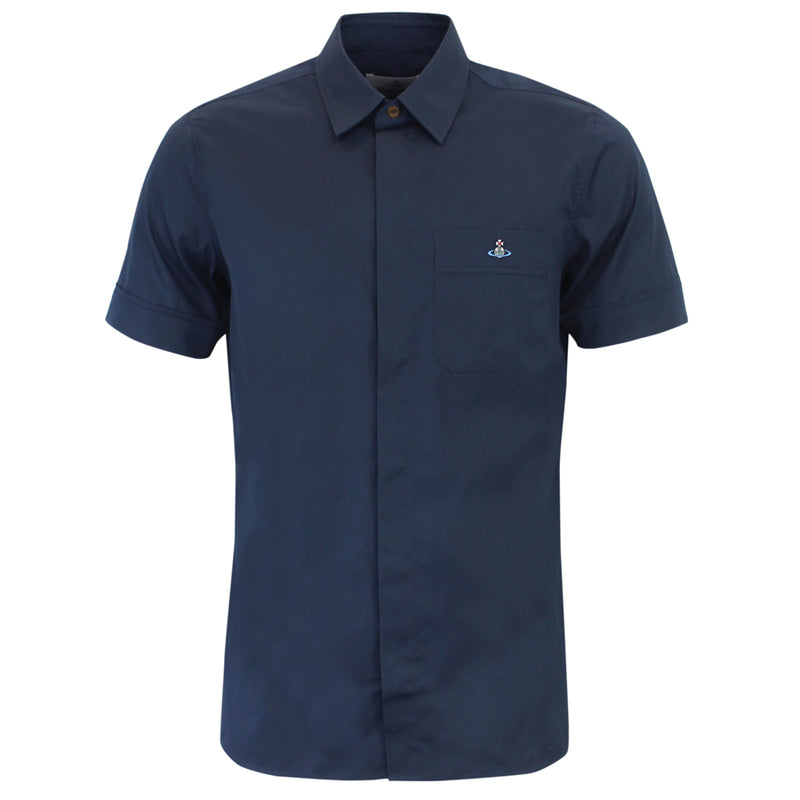 Vivienne Westwood - Classic Navy Short Sleeve Shirt - Nigel Clare