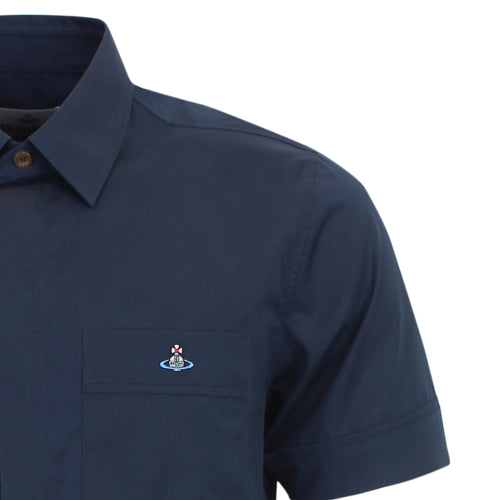 Vivienne Westwood - Classic Navy Short Sleeve Shirt
