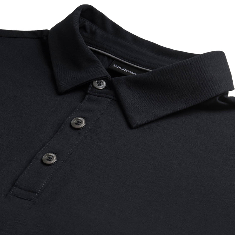 Emporio Armani - Stretch Jersey Polo Shirt in Navy - Nigel Clare