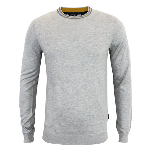 Ted Baker - Mailais Crew Neck Jumper in Grey Marl - Nigel Clare