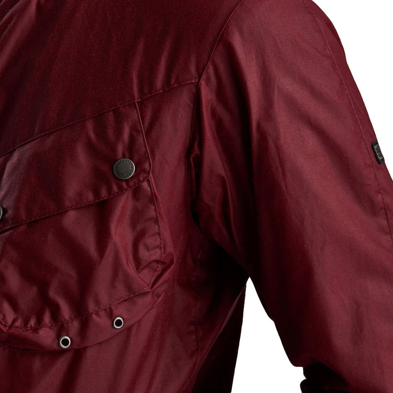 Barbour International - Beech Waxed Jacket in Biking Red - Nigel Clare