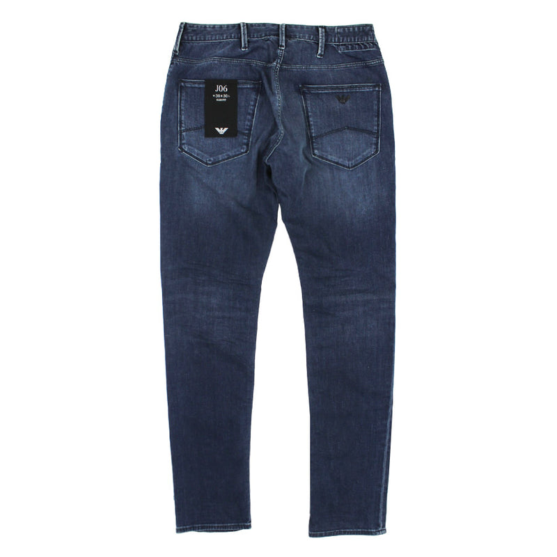 Emporio Armani - J06 Slim Fit Mid Wash Faded Jeans - Nigel Clare