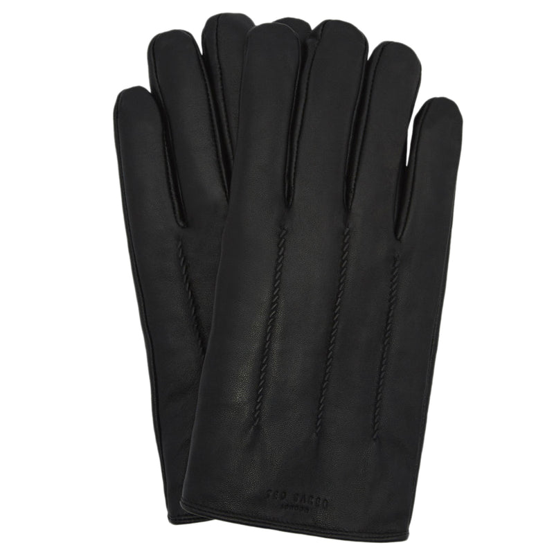 Ted Baker - Leather Wool Lined Gloves in Black - Nigel Clare