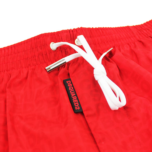 DSQUARED2 - Born in Canada Swim Shorts in Red - Nigel Clare