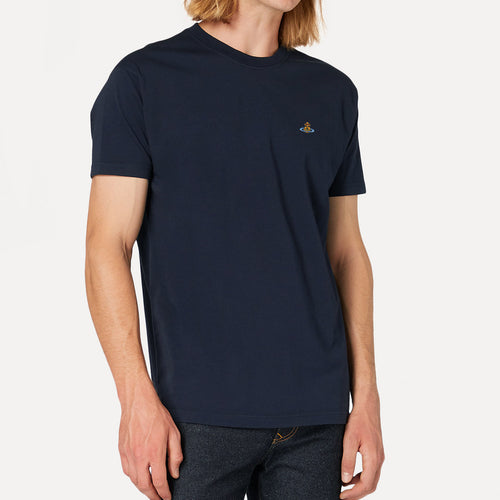 Vivienne Westwood - Multicolour Orb T-Shirt in Navy - Nigel Clare