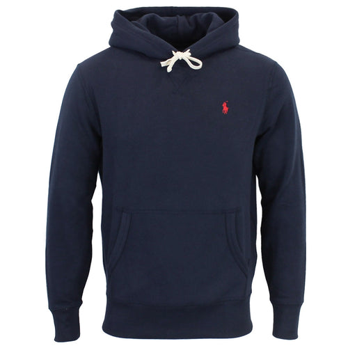 Polo Ralph Lauren - Cotton Blend Fleece Hoodie in Navy - Nigel Clare