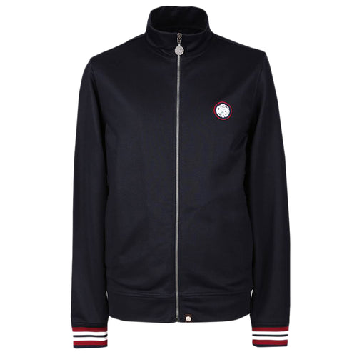 Pretty Green - Rib Side Stripe Track Top in Navy - Nigel Clare