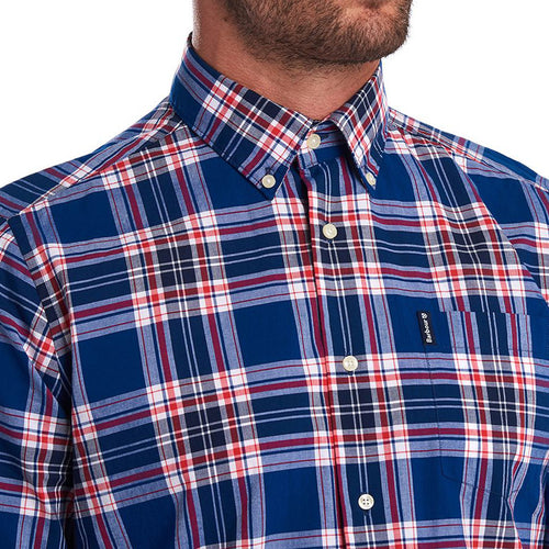 Barbour - Highland Check Shirt in Navy & Red