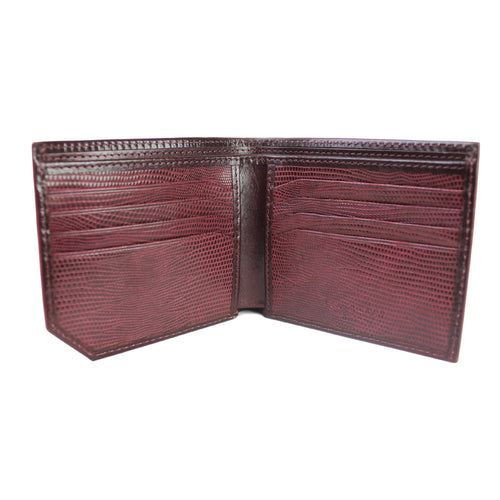 Ted Baker - Spidey Leather Bifold Wallet in Dark Red - Nigel Clare