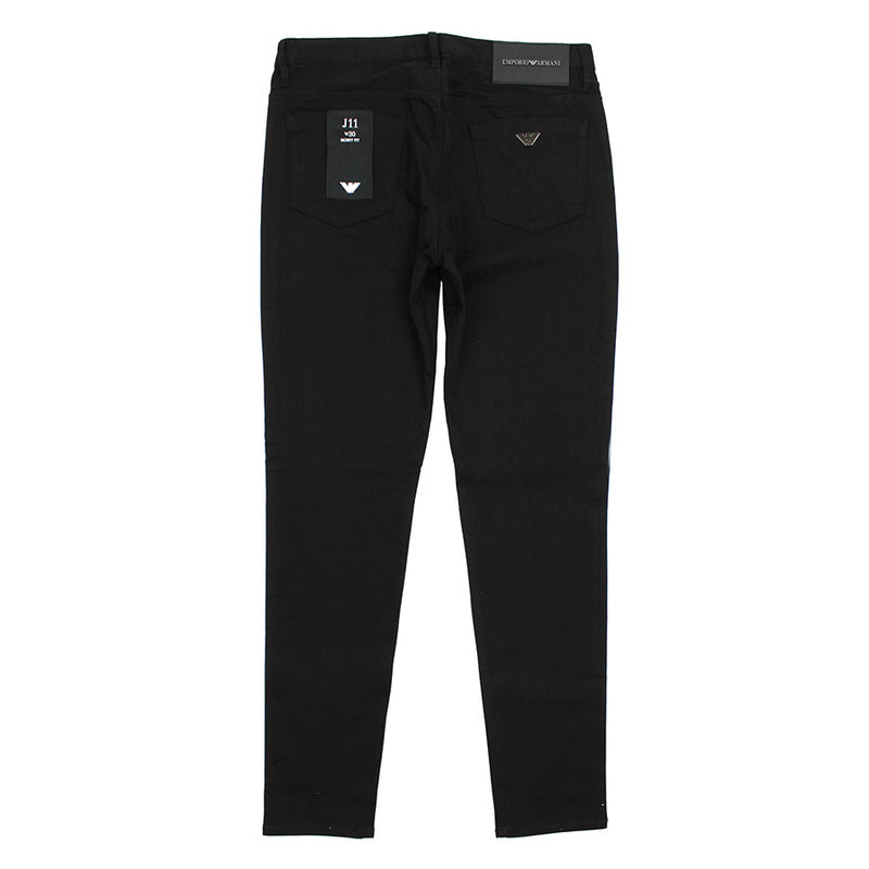 Emporio Armani - J11 Skinny Fit Extra Comfort Jeans in Black