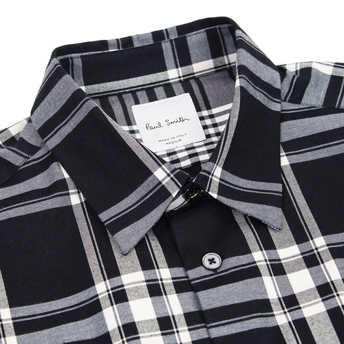 Paul Smith - Slim Fit Check Shirt in Dark Ink