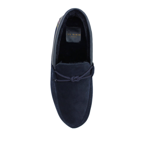 Ted Baker - Seffel Moccasin Slippers in Navy - Nigel Clare