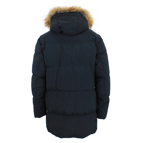 C.P. Company - Taylon P Down-Filled Fur Hood Lens Jacket in Navy - Nigel Clare