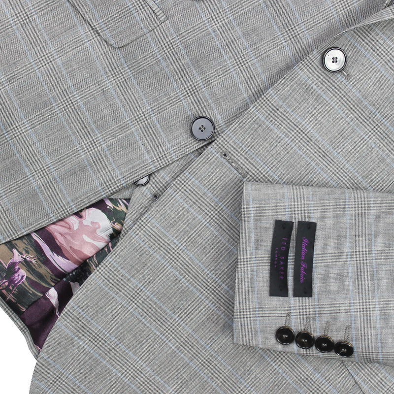 Ted Baker - Waspn Sterling Light Grey Check 3-Piece Suit - Nigel Clare