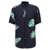 Hugo Boss - Ronn_F Slim Fit Palm Print SS Shirt in Dark Blue - Nigel Clare