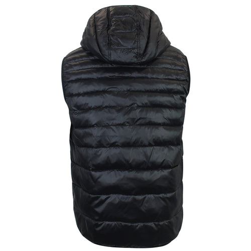 Love Moschino - Peace Logo Hooded Gilet in Black - Nigel Clare