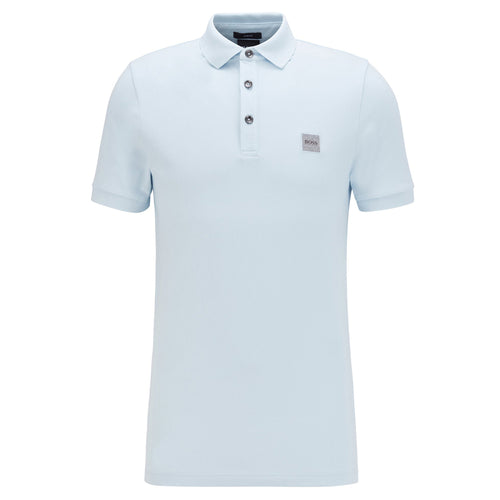 BOSS Orange - Passenger Logo Patch Polo Shirt in Light Blue - Nigel Clare
