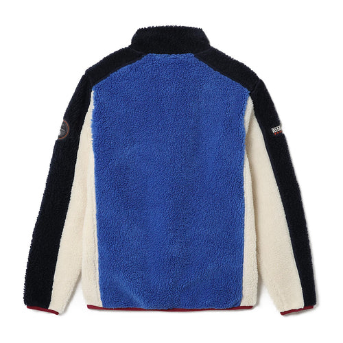 Napapijri - Yupik Full Zip Fleece in Blue/Red/Cream