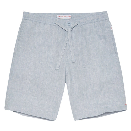 Orlebar Brown - Harton Relaxed Fit Shorts in Chambray - Nigel Clare