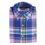 Polo Ralph Lauren - Custom Fit Check Shirt in Blue & Pink - Nigel Clare