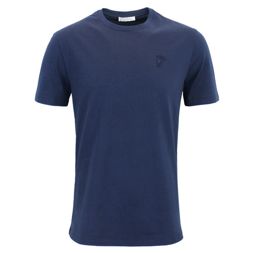 Versace Collection - Small Logo T-Shirt in Dark Blue - Nigel Clare