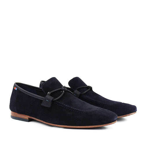 Ted Baker - Crecy Suede Tassle Loafers in Navy - Nigel Clare