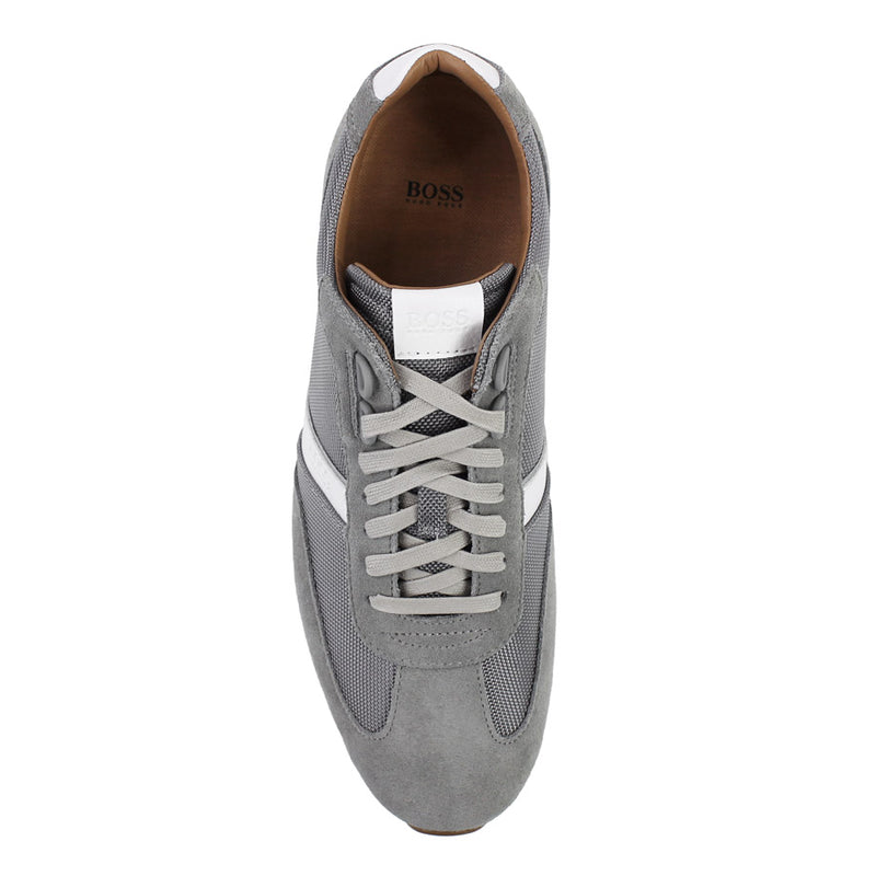 Hugo Boss - Orland_Lowp_sdny2 Suede Mesh Trainers in Medium Grey - Nigel Clare