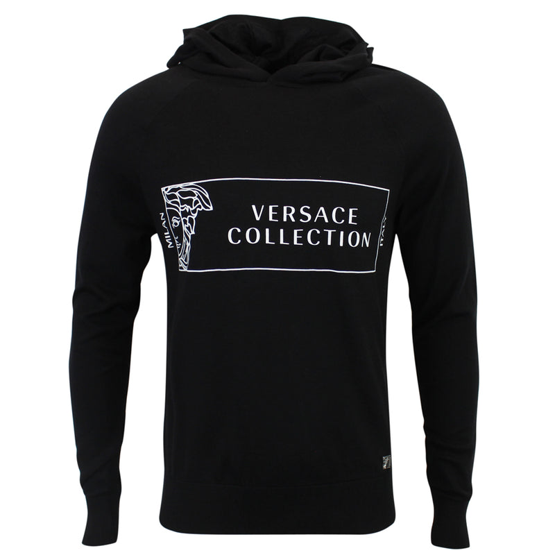 Versace Collection - Hooded Jumper in Black - Nigel Clare