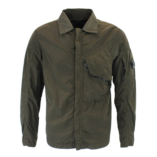 CP Company - Chrome Lens Overshirt in Khaki - Nigel Clare