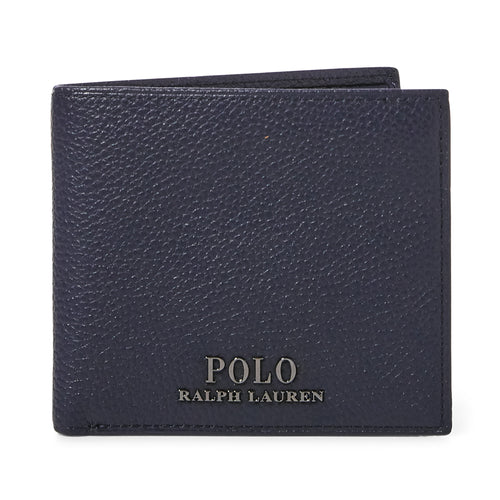 Polo Ralph Lauren - Pebbled Leather Billfold Wallet in Navy - Nigel Clare